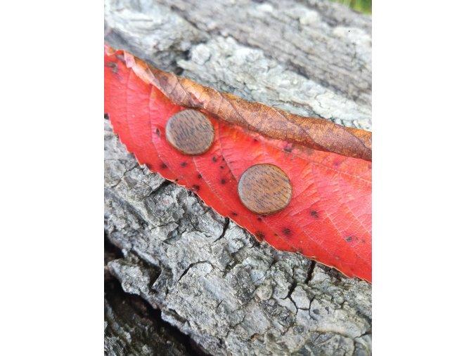 Dřevěné náušnice kolečka z ořechu