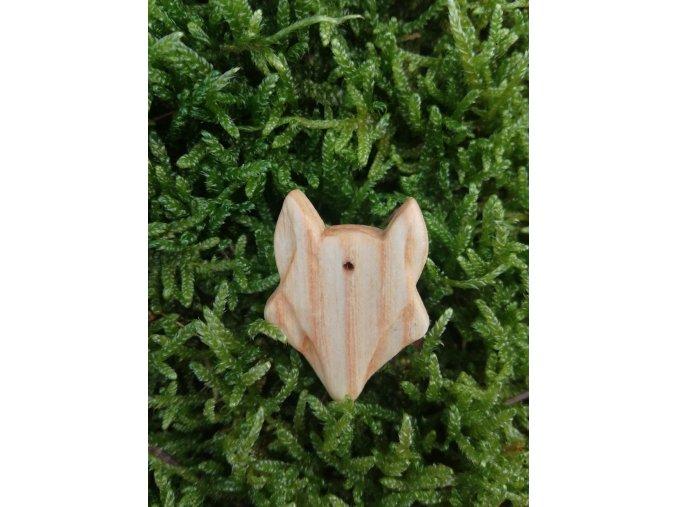 Dřevěný přívěsek vlk (jasan)  DŘEVĚNÉ ŠPERKY | PŘÍRODĚ NA DOSAH