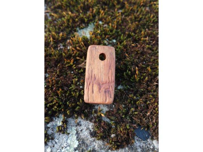 Dřevěný přívěsek oliva s ptáčkem
