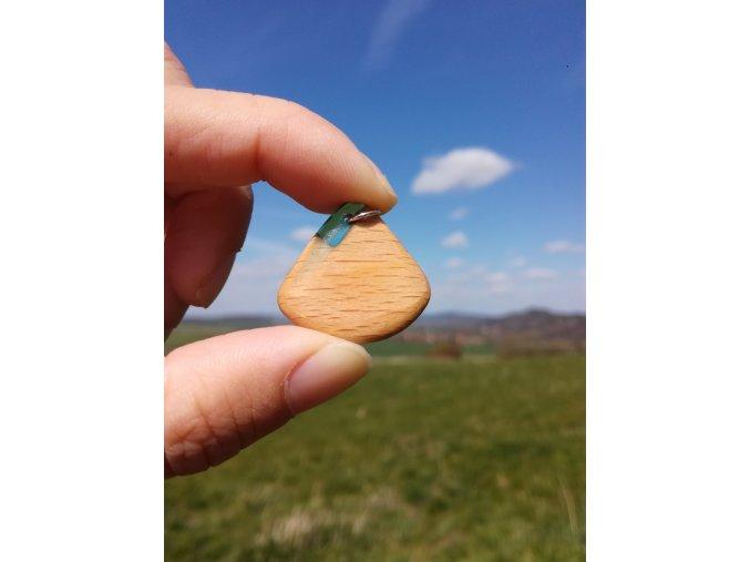 Šperky ze dřeva a pryskyřice hory PŘÍRODĚ NA DOSAH