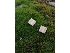 Dřevěné náušnice pecky jasan