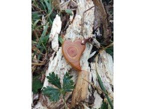 Dřevěný přívěsek srdce z modřínu