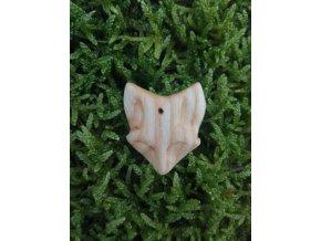 Dřevěný přívěsek liška z jasanu