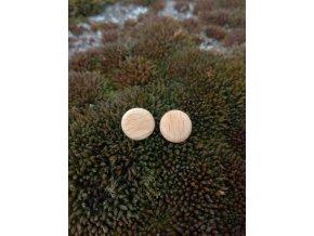 Dřevěné boho náušnice kolečka (buk)