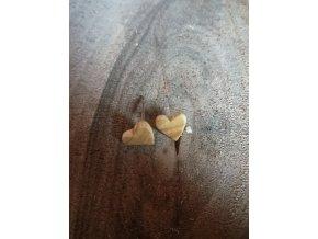 Dřevěná srdíčka pecky (jasan)