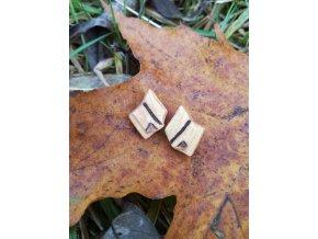 Dřevěné náušnice ve tvaru knihy (lípa)
