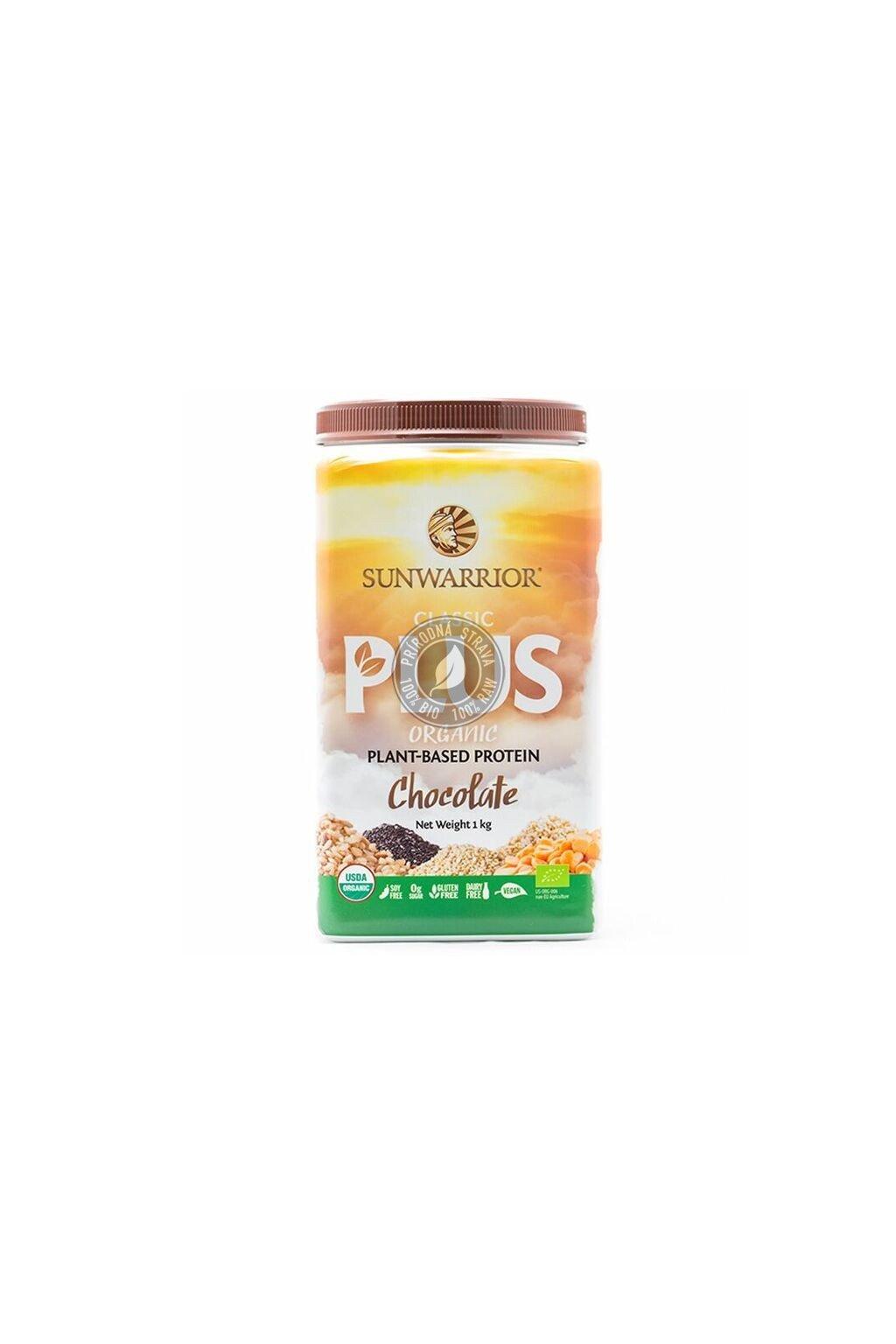 Sunwarrior Protein Classic Plus BIO - Čokoládový - 750 g