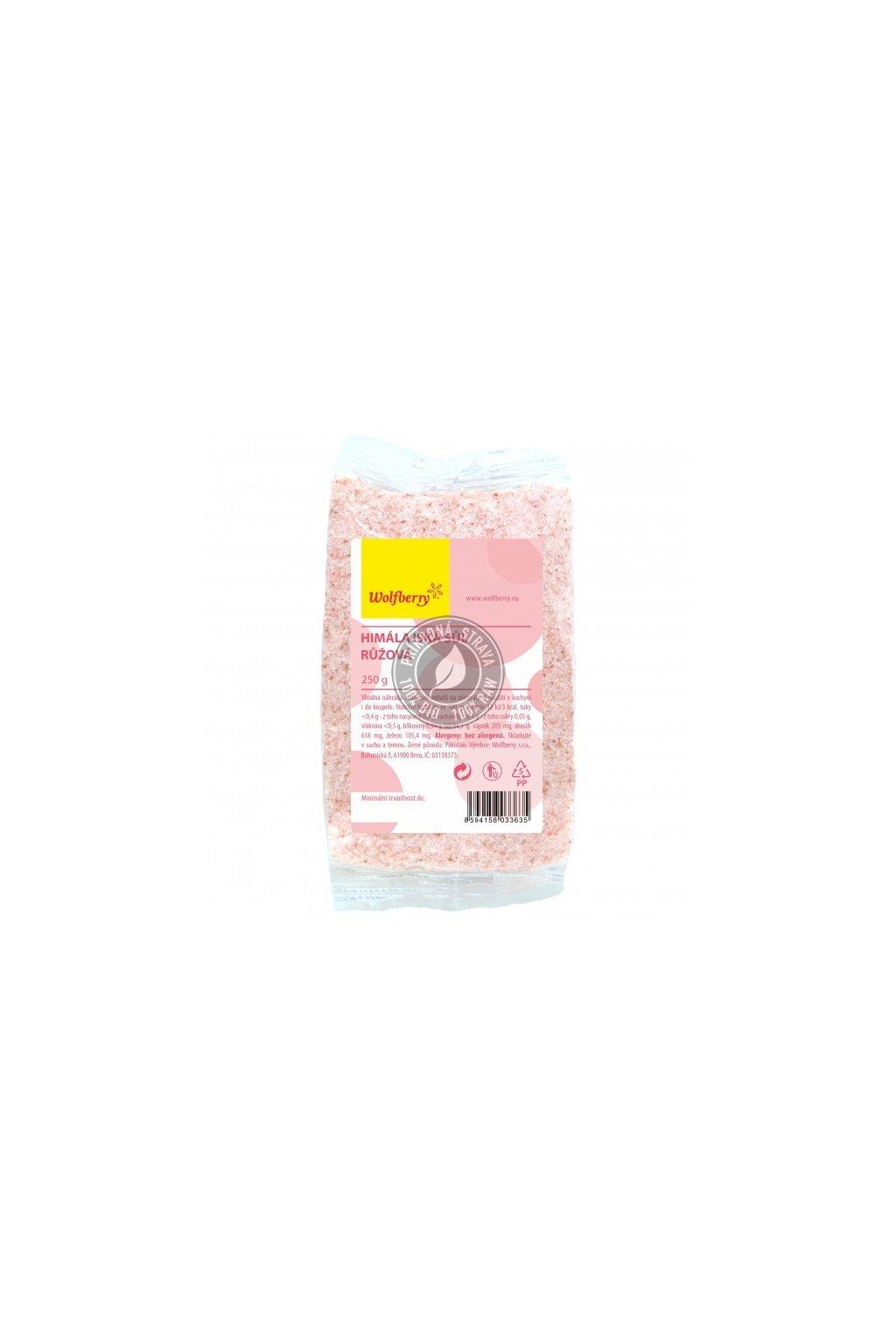 Soľ himalájská ružová jemná - 250g