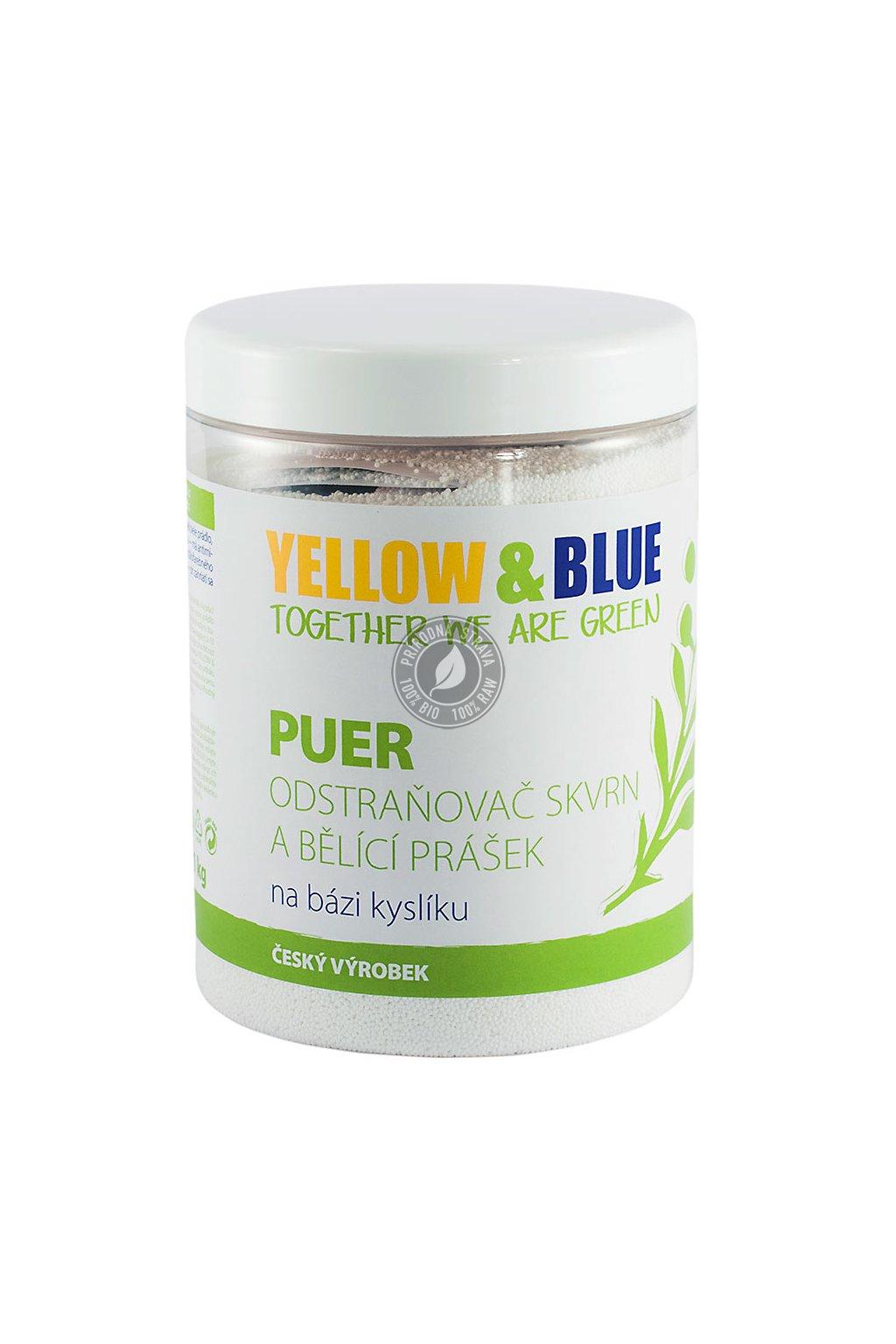 PUER - bieliaci prášok a odstraňovač škvŕn na báze kyslíka (dóza 1 kg)
