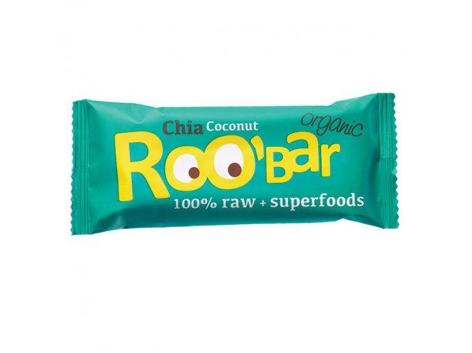 Roobar: chia + kokos  BIO / RAW - 30g