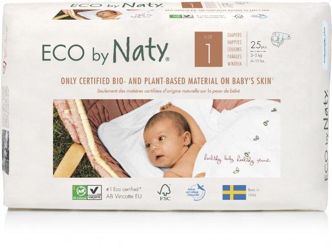 Plienky Naty Nature Babycare Newborn 2-5 kg (26 ks)