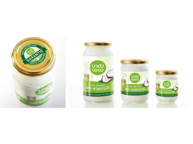 Kokosový olej panenský BIO Indi coco - 435 ml