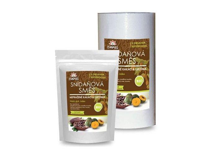 Raňajková zmes ISWARI : lucuma + nepražené kakao BIO / RAW - 800g