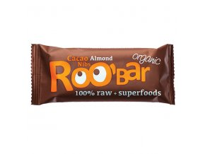 Roobar: kakao + mandľa  BIO / RAW - 30g