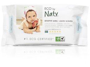 Naty Nature Babycare ECO Sensitive vlhčené obrúsky bez vône (56 ks)