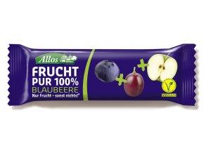 Allos Frucht Pur Riegel Blaubeere vegan