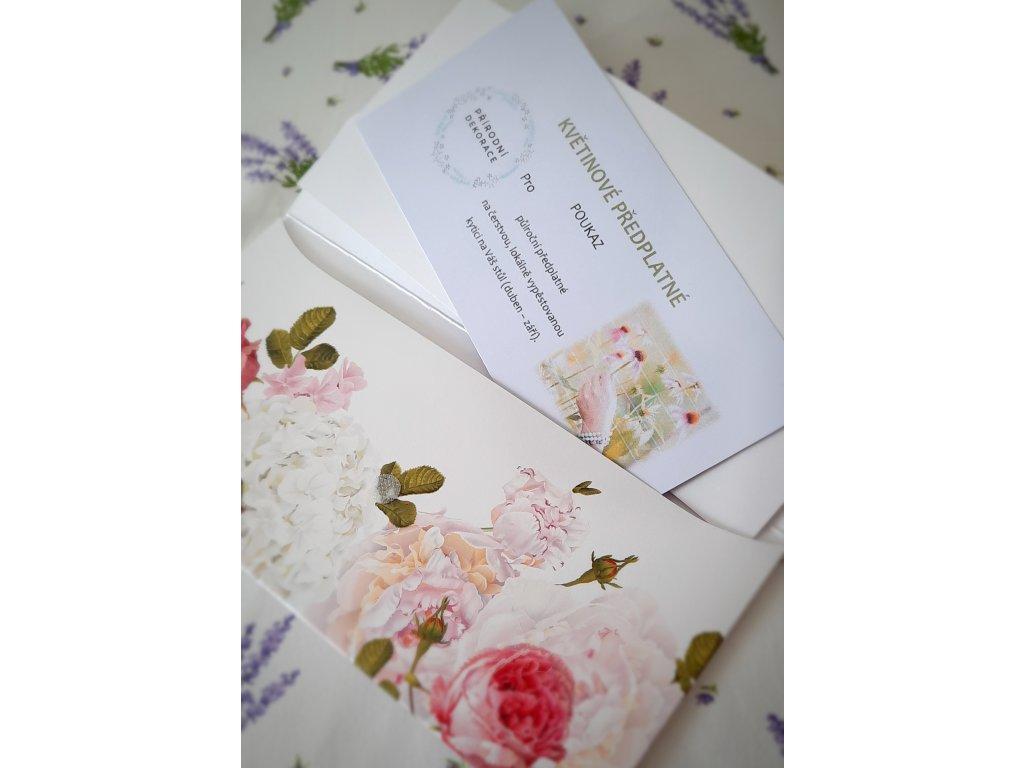 Poukaz na květinové předplatné