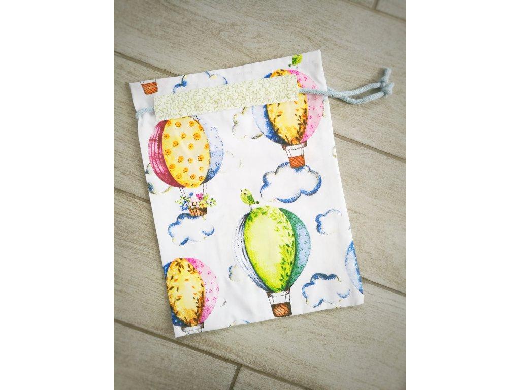 Látkový pytlík - Barevné létající balóny