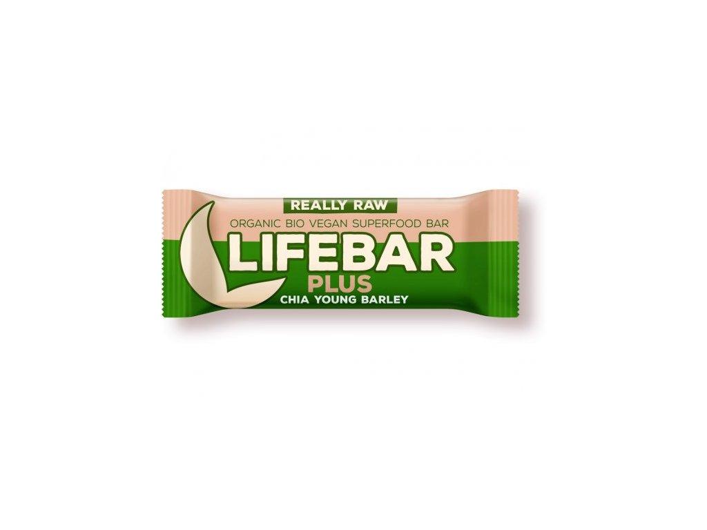 Lifebar plus chia semínka a mladý ječmen BIO 47 g