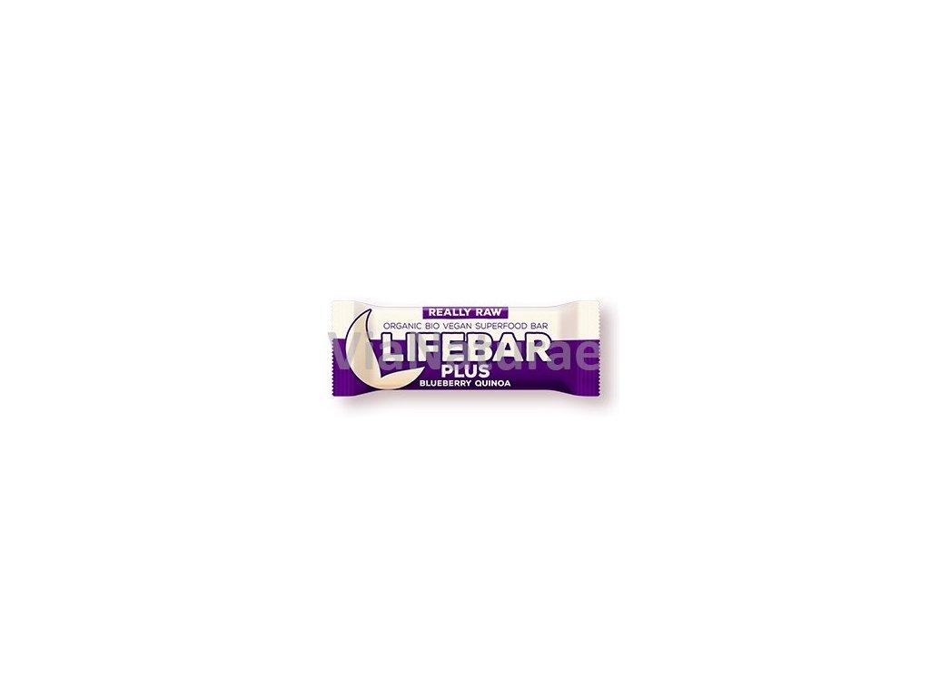 Lifebar Plus tyčinka borůvková quinoa BIO 47 g