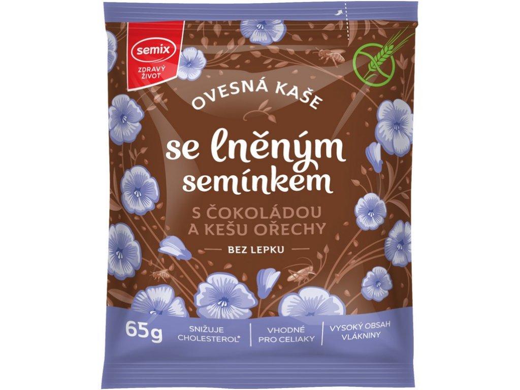 47559 ovesna kase s cokoladou kesu orechy a lnenym seminkem 65g