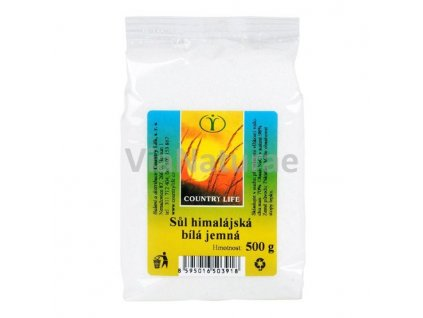 Sůl himálajská bílá jemná 500 g COUNTRY LIFE
