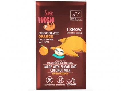 Bio Čokoláda s kokosovým mlékem a pomerančem 80g