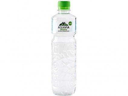 AquaVia neperlivá pramenitá voda zásaditá 0,5 l