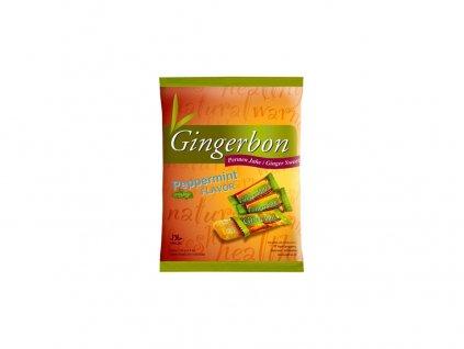 48387 gingerbon 125 g peprmint zazvorove bonbony s matou
