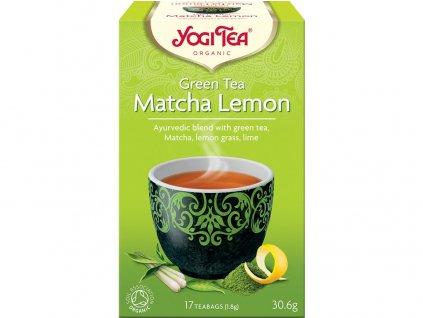 Bio Zelený čaj Matcha Citrón Yogi Tea 17 x 1,8 g