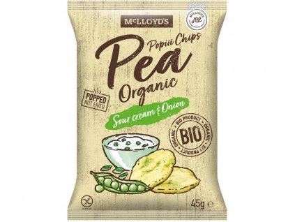78617 bio popiii chips pea hrasek sour cream onion 45g