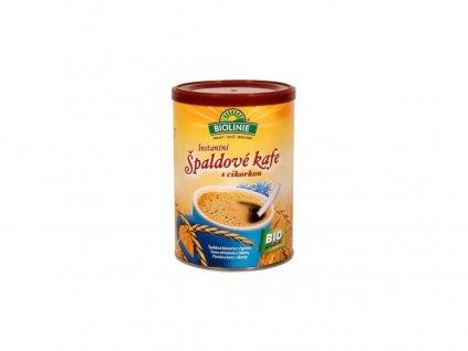 80936 bio instantni spaldove kafe s cikorkou biolinie 100g