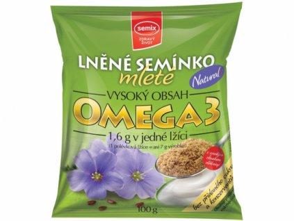 mleté lněné semínko natural semix