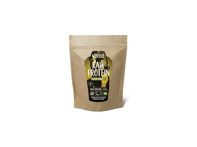 raw vegan protein green vanilla 450g new