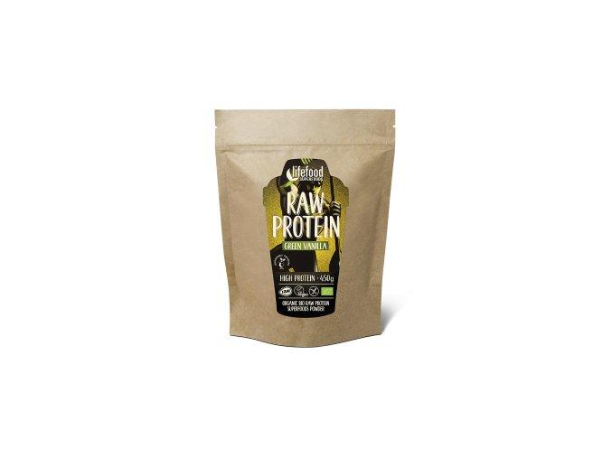 raw vegan protein green vanilla 450g new