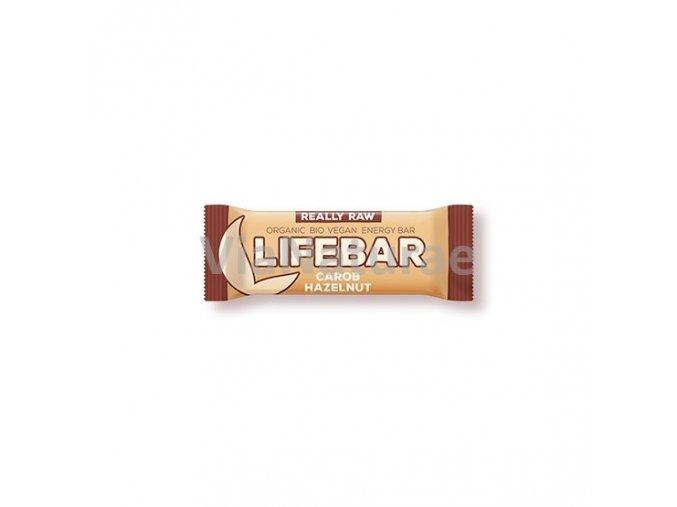 Lifebar tyčinka karobová s lískovými oříšky BIO 47 g