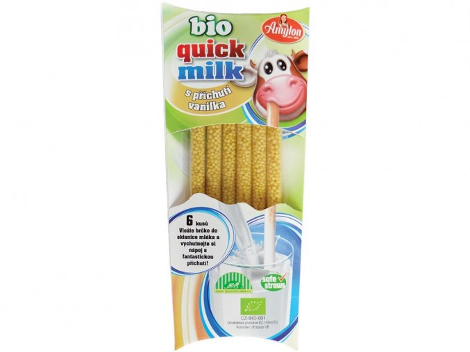 45030 bio quick milk magicka brcka do mleka s prichuti vanilka amylon 6x6g