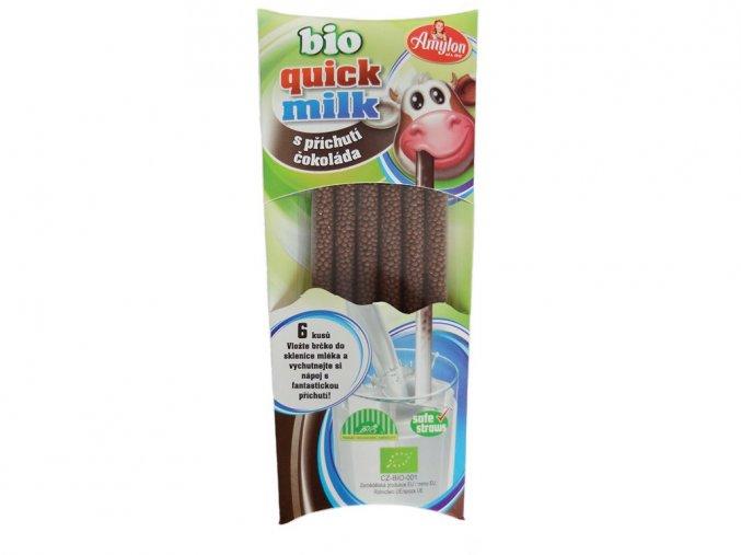 45033 bio quick milk magicka brcka do mleka s prichuti cokolada amylon 6x6g