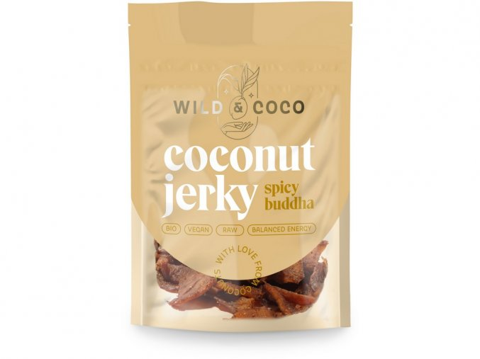 47205 bio kokosove jerky pikantni buddha 25g