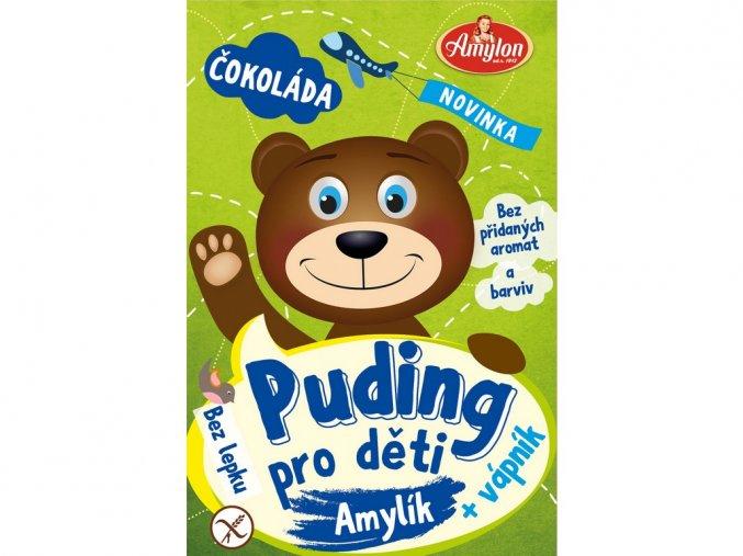 53937 puding cokoladovy pro deti amylon 40g bez lepku
