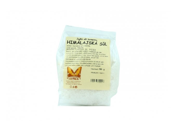 Sůl himálajská bílá hrubá 500g Natural Jihlava