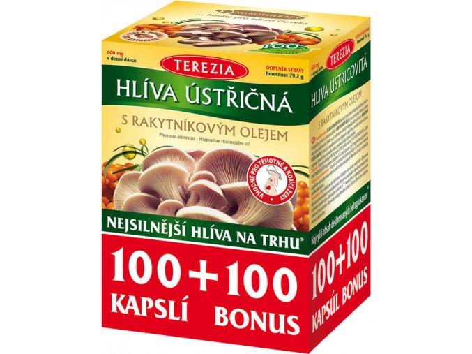 TEREZIA Hlíva ústřičná s rakyt.olejem 100+100 cps.