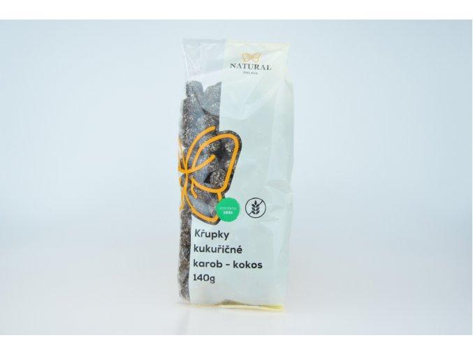 Křupky kukuřičné karobové s kokosem - Natural 140g
