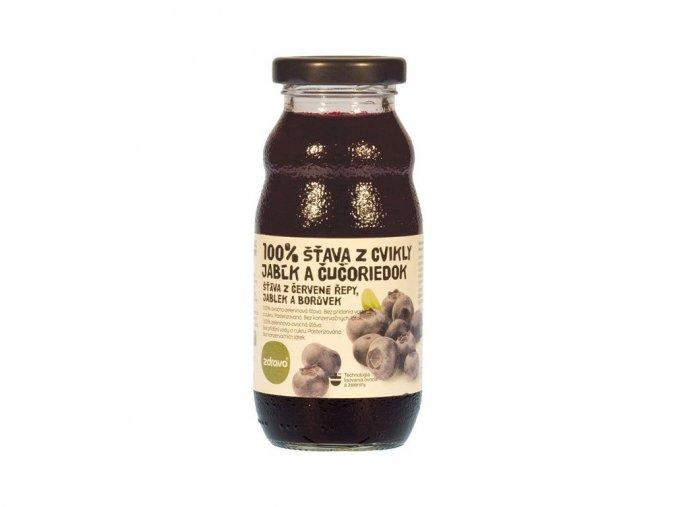 Šťáva 100% řepovo-borůvkovo-jablková 0,2 l