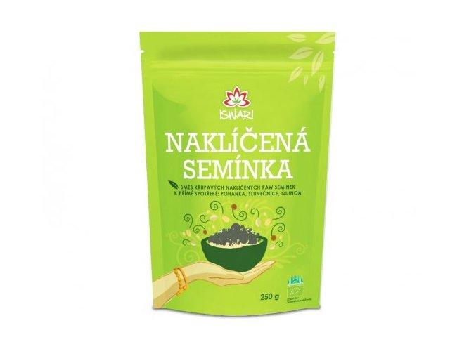 Bio Směs naklíčených semínek pohanka - slunečnice - quinoa 250g ISWARI