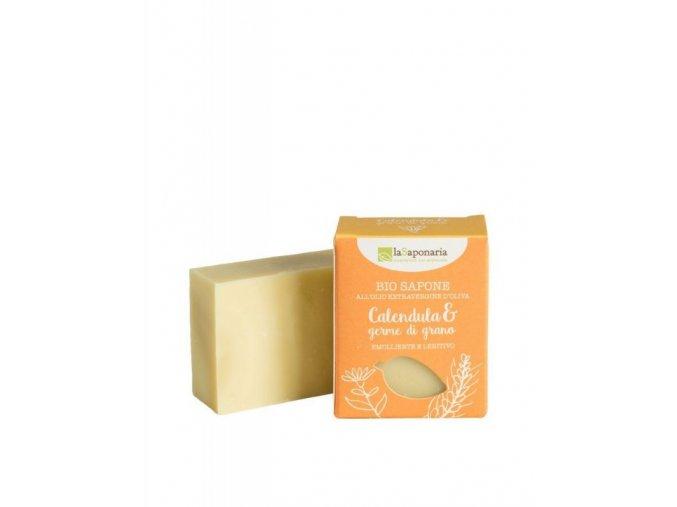 71049 lasaponaria tuhe olivove mydlo bio mesicek a psenicne klicky 100 g