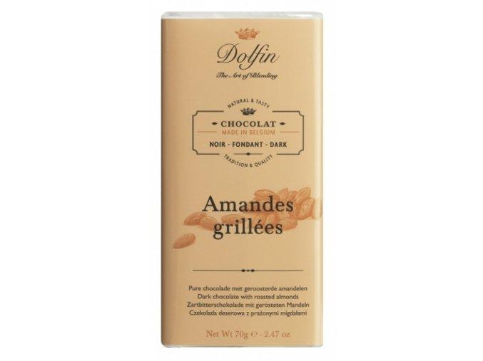 dolfin hořká čokoláda s praženými mandlemi