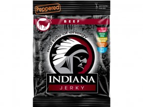 45258 indiana jerky hovezi peppered 25g