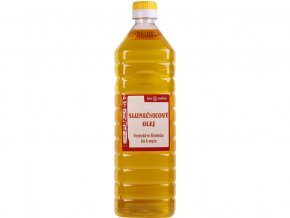 46446 bio olej slunecnicovy lisovany za studena 1l plast