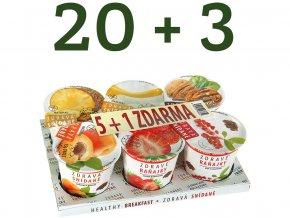 Akční balení Zdravá snídaně varianta A 20+3 ZDARMA